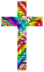 color Jesus cross